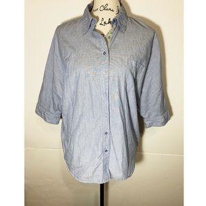 Splendid Button Down Collared Shirt Front Pocket